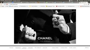 หน้าตาเว็บของ CHANEL วันที่ 28/2/2014